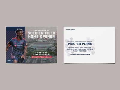 Chicago Fire Mailer Piece chicago soccer chicago fire fc postcard print mailer mail sport design sports design chicago sports chicago fire chicago