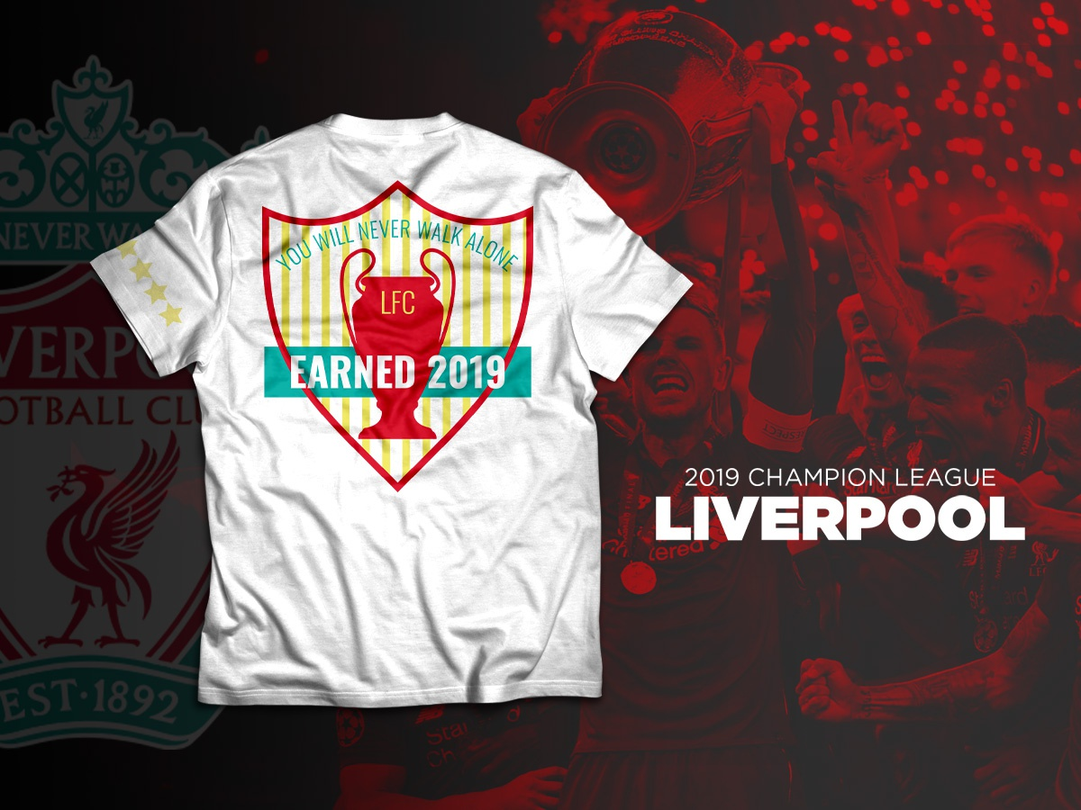 Liverpool T-Shirt champions league soccer crest t-shirt mockup t-shirt design t-shirt liverpool liverpool fc