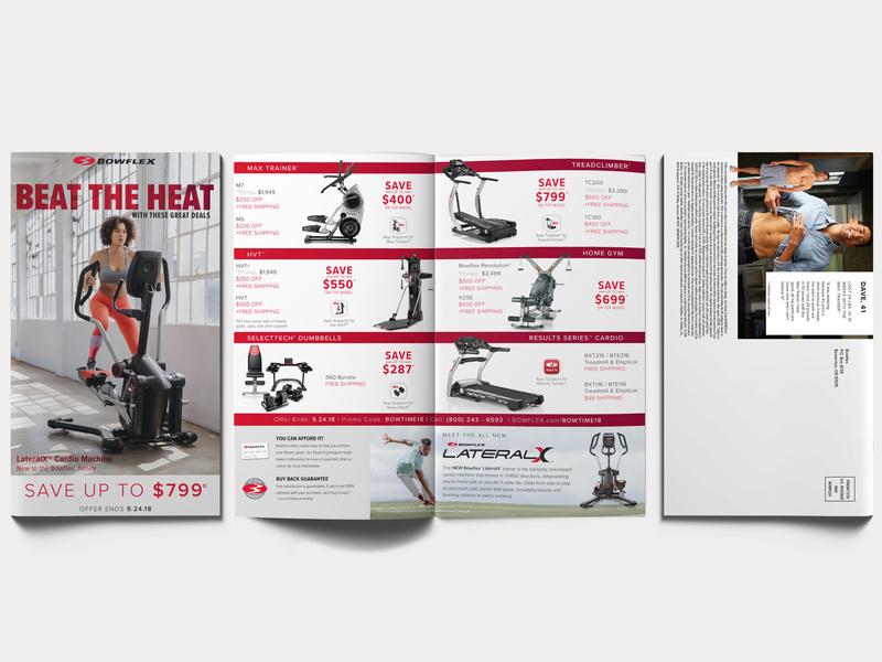 Brochure Mailer fitness print marketing mailer brochure