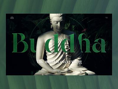 Buddha website direction relax trees serbian designer apple design ui montenegro balkan croatia mindset mind typographic typography peace green buddha