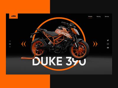 KTM black serbian designer balkan croatia 3d scooter contrast minimal model duke racing gear rider adrenaline love motorcycle motor orange ktm