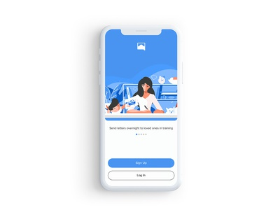 Sign Up - Sandboxx signup illustration mobile design prototype ux ui