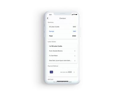 Checkout - Sandboxx checkout mobile design ui ux prototype