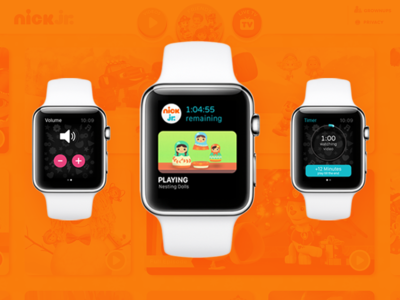 Nick Jr. for Apple Watch: The Interface wearable ios watch ui tv orange product design cartoon app