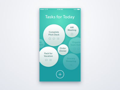 A Bubbly Task Management App to do ui task management green interface ios design concept app