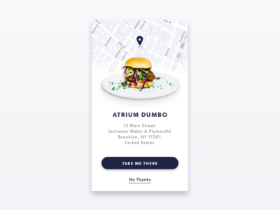 Tell Me What to Eat: A Food Finder App Concept clean ui restaurant map interface burger ios design food concept app