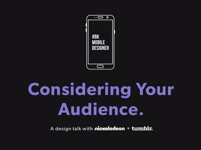 Nick UXD and Tumblr: Considering Your Audience user people meetup invite fun free creative ios event design agency app