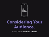 Nick UXD and Tumblr: Considering Your Audience