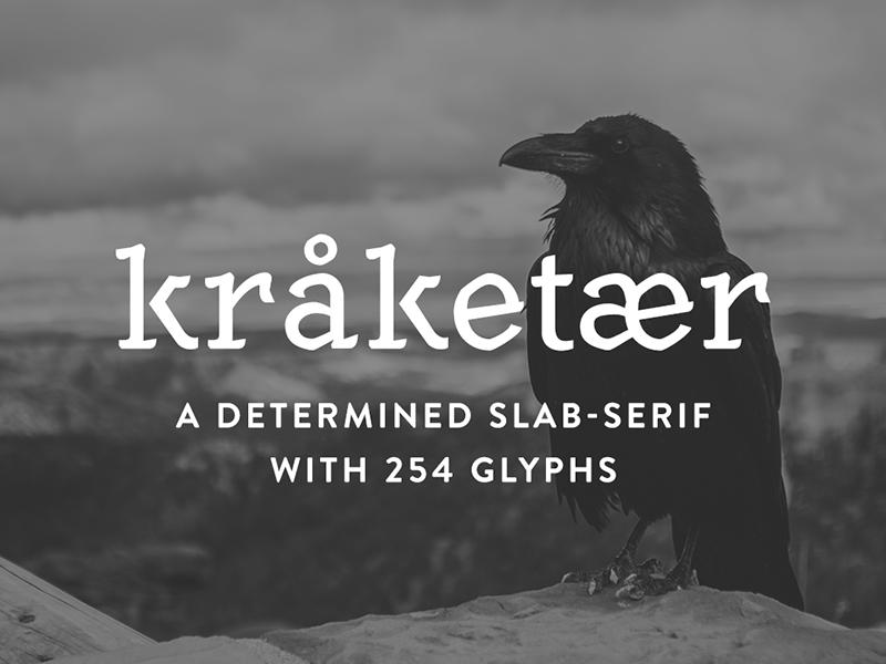 [FREE] Kråketær – Typeface crow typography download typeface font freebie