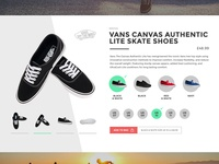 Shoe ecommerce product card skating shoes vans ecommerce product