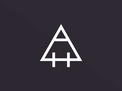 AH Monogram alchemy triangle ah logo monogram