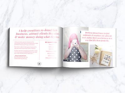 Jessica Bramlett Media Kit book layout editorial media kit