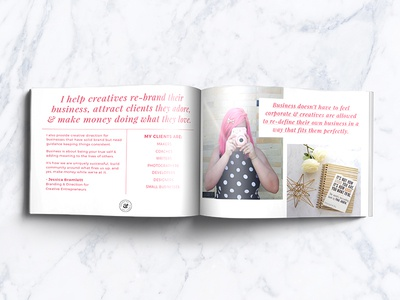 Jessica Bramlett Media Kit book layout editorial media kit