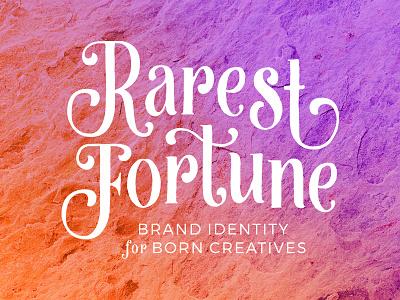 Rarest Fortune Branding logo branding