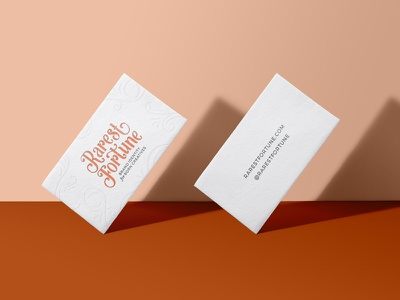 Rarest Fortune Business Cards brand collateral business cards