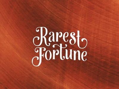 Rarest Fortune serif logo branding