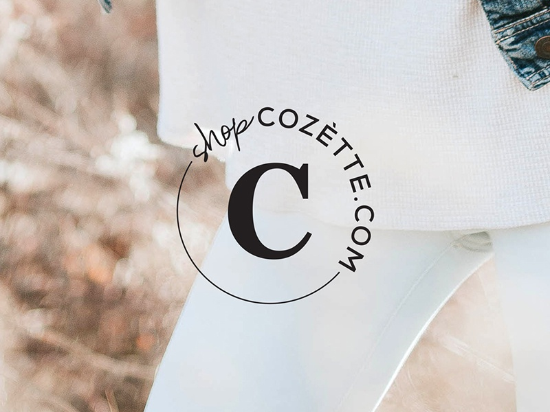 Shop Cozétte Logo mark sans serif serif logo branding