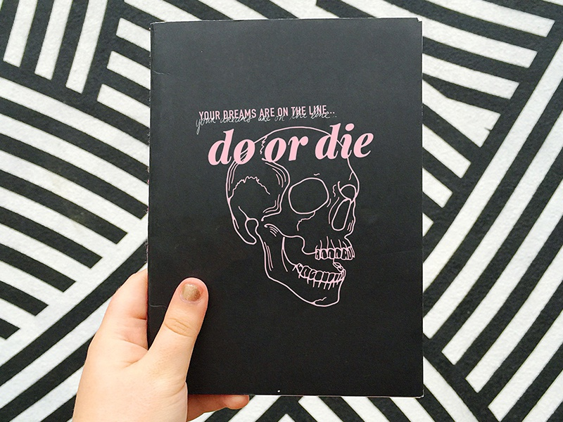 Do or Die Notebook illustration