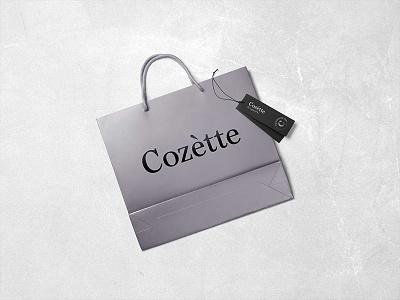 Cozétte Bag packaging serif logo branding