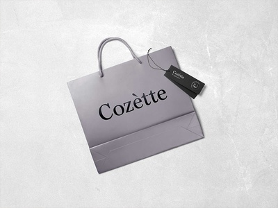 Cozétte Bag packaging serif logo branding