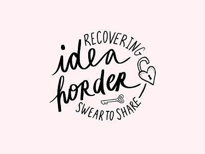 Idea Horder   Pin Concept Sketch pin design illustration lettering