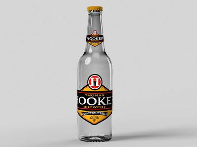 Hooker Beer Mockup glass bottle hooker beer vodka freebies mockup illustrator illustration website animation graphic design design branding