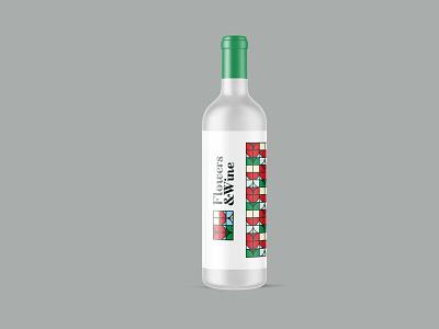 Flowers & Wine Mockup alcohol bottle mockup freebies wine illustrator illustration website animation graphic design design branding