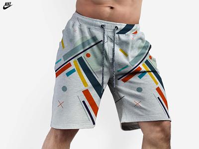 Nike Men's Gym Shorts Mockup grey new mens short nike freebies mockup illustrator illustration website animation graphic design design branding