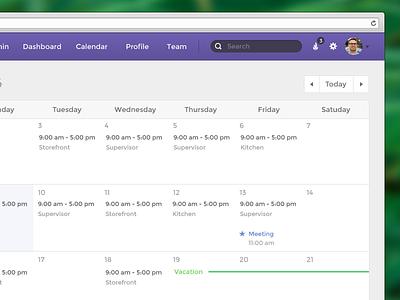 Employee Schedule calendar schedule app notification month today