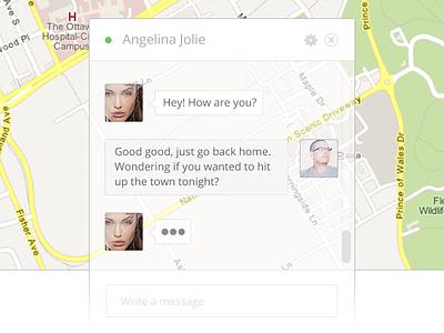 Chat Window chat angelina jolie bubble devin close settings google maps transparent ui white online