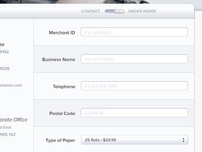 Toggle Form form contact select ui ux toggle shiny
