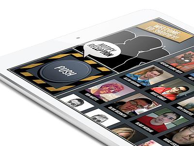Shopify Reception App ipad app ui ux shopify notification reception ipad mini team comic welcome push button