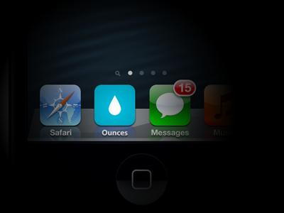 Simple Flat Icon Design flat icon ios app icon blue water