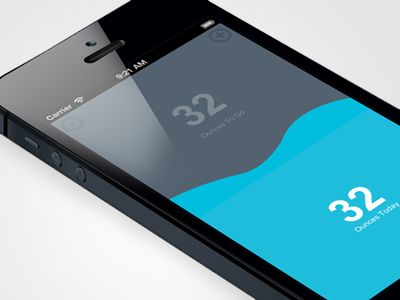 Ounces ounces app flat blue gray iphone ios