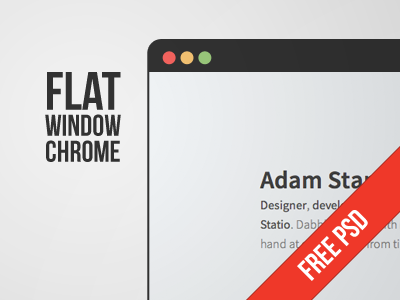 Flat Window Chrome PSD free psd chrome window flat