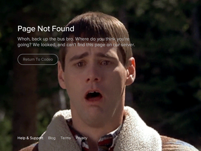 Page Not Found (404) 404 error page animated gif