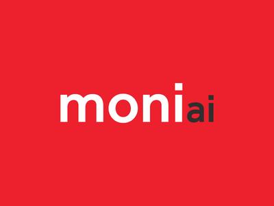 Moni.ai Logo Design logo red contrast white simple flat