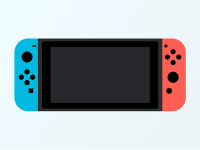 Nintendo Switch nintendo illustration red blue switch flat design