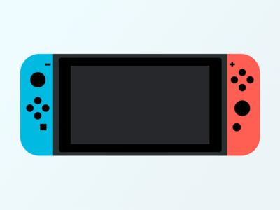 Nintendo Switch nintendo illustration red blue switch flat design