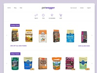 Pet Wagger - Prototype online pet store design