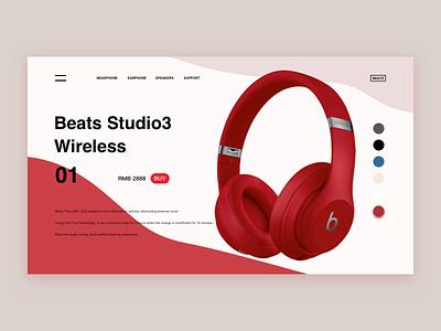 Beats Studio3 Wireless ui web