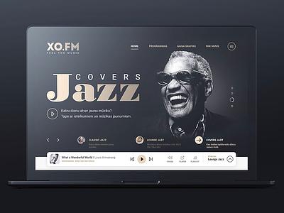 XO.FM — Jazz Radio ui music website