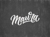 Maura Lettering