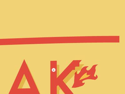 K-dragon k type fire flame dragon