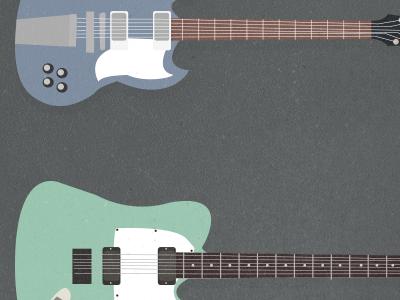 Guitars guitar illustration