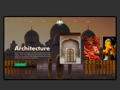 Yatra - Taking an Authentic Route motion graphics assistant design graphic design animation carousel