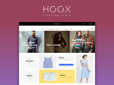 Hoox. Clothing store design