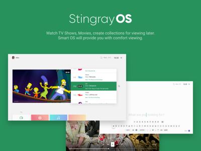 StingrayOS. Smart TV UI concept