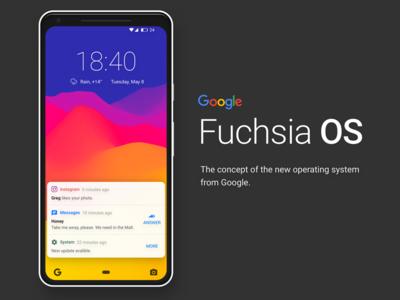 Fuchsia OS. Concept new OS from Google