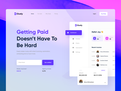 Invoice Generator platform Landing page blur landing page module view card component card view sidebar invoice dashboard dashboard hero dashboard landing page invoice design invoice generator invoice builder invoice ui colorful landing page landing page ui hero ui